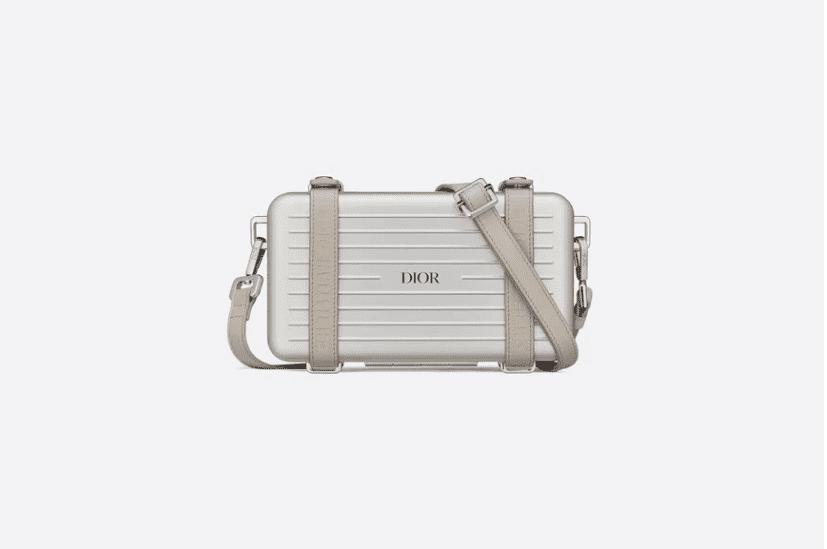 Dior/迪奥 Rimowa联名 银色铝镁合金小箱子斜挎包