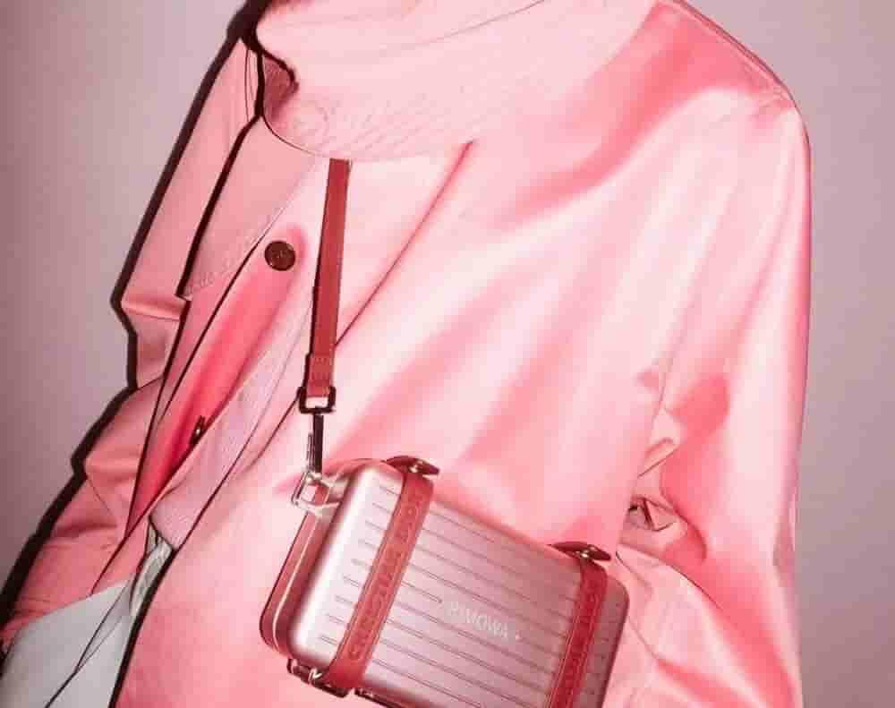 Dior/迪奥 Rimowa联名 粉红色铝镁合金小箱子斜挎包