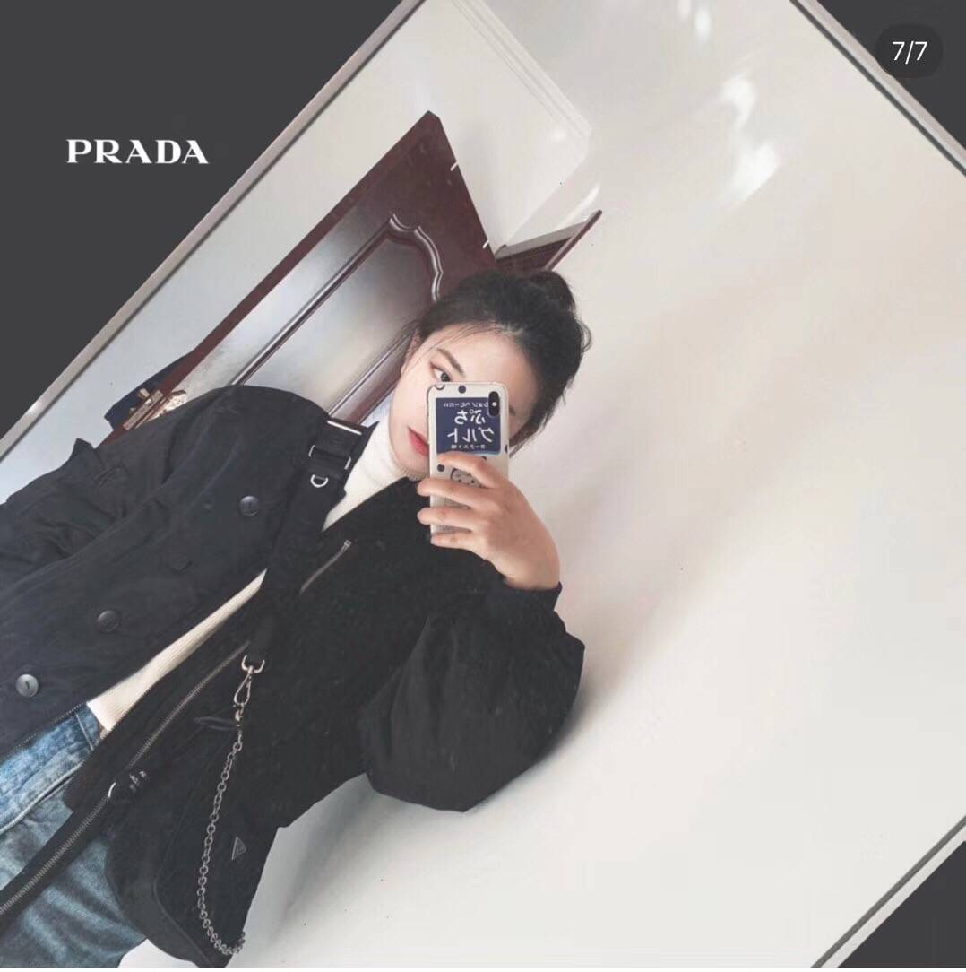Prada/普拉达 新款HOBO 三合一链条包 尼龙腋下包半月包