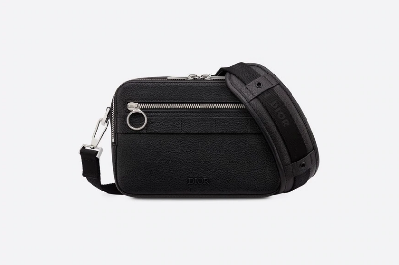 Dior/迪奥 SAFARI黑色牛皮革肩背包 1SFPO101YMJ_H15E