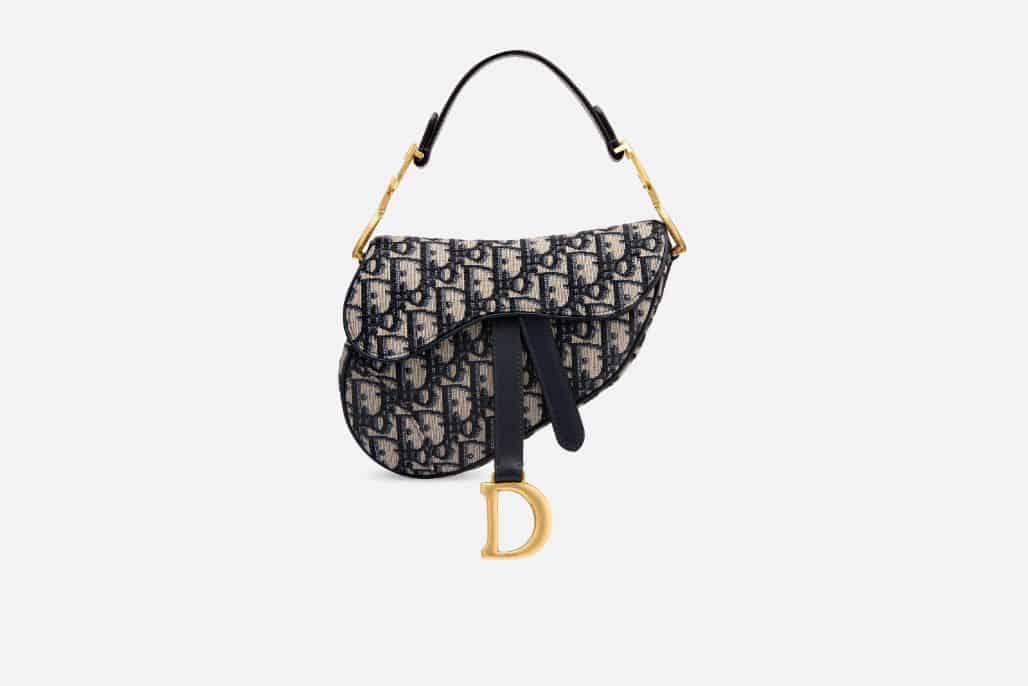 Dior/迪奥 Oblique提花帆布迷你马鞍手袋 M0447CTZQ_M928