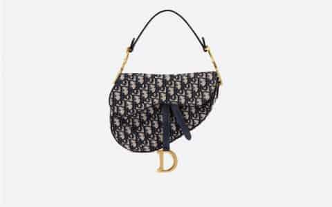 Dior/迪奥 Oblique提花帆布马鞍手袋 M0446CTZQ_M928