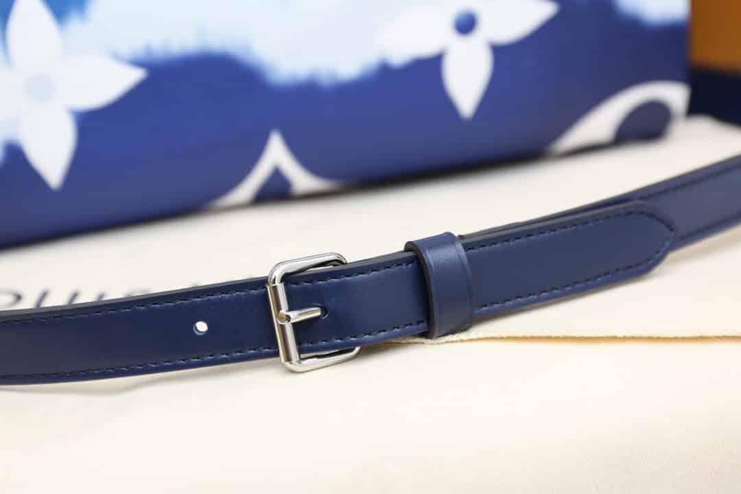 LV M45146 2020夏季扎染系列 Speedy 30 渐变蓝色手提枕头包