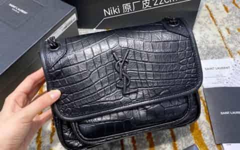 【原厂皮】YSL NIKI鳄鱼纹小号单肩斜挎包 533037