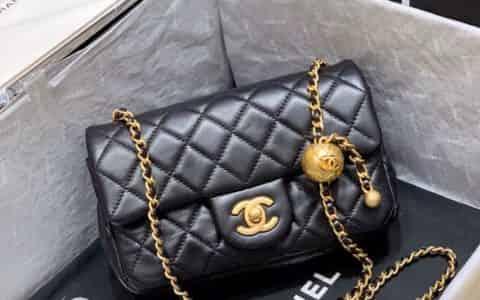 Chanel/香奈儿 2020新款金珠球调节口盖包 AS1787
