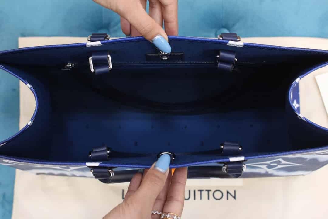 LV M45120 夏日系列ONTHEGO蓝色渐变托特手提购物袋