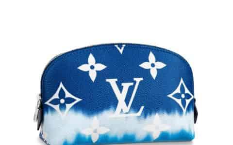 LV 2020夏日系列扎染渐变蓝色Escale化妆包 M69138