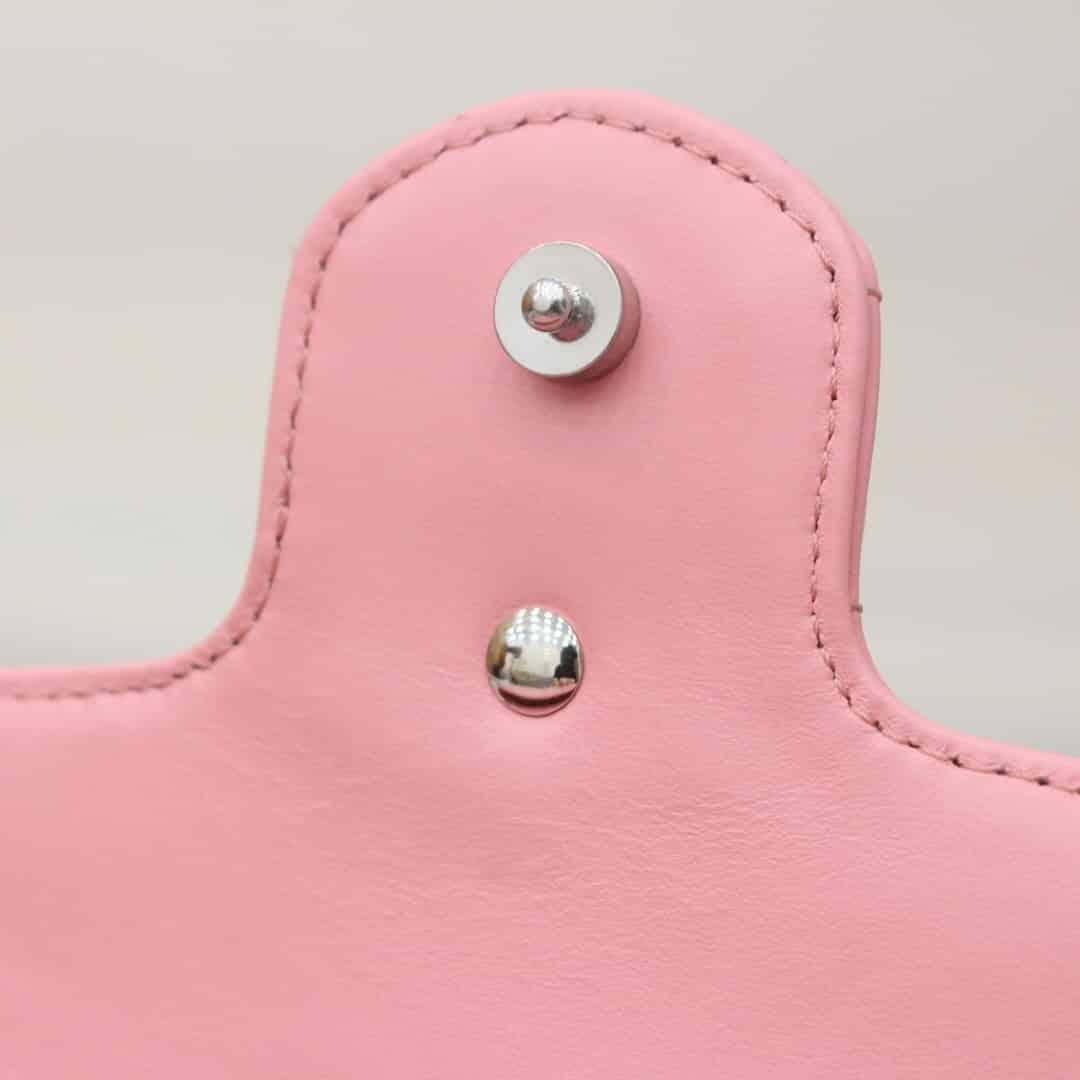 Gucci GG Marmont夏日缤纷马卡龙Mini链条斜挎包 476433