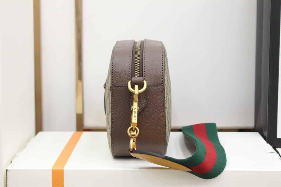 Gucci/古驰 复古风格织带条纹Vintage相机虎头包 476466