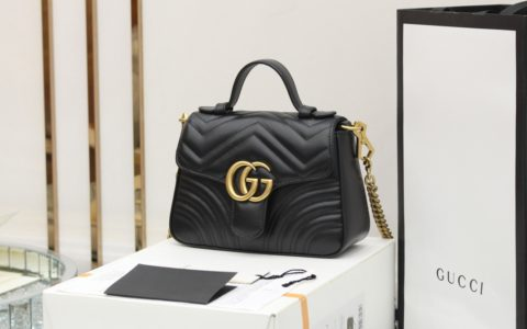 Gucci GG Marmont mini top handle bag 547260 DTDIT 1000