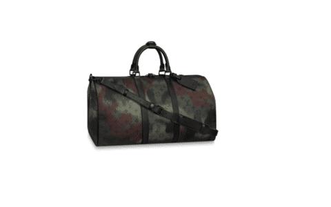LV M56416 Keepall Bandoulière 50 尼龙迷彩旅行袋