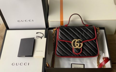 Gucci GG Marmont mini top handle bag 583571 0OLFX 8277