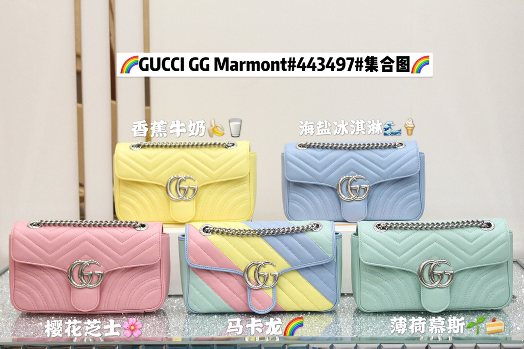 Gucci GG Marmont small shoulder bag 443497 DTDIY 3926