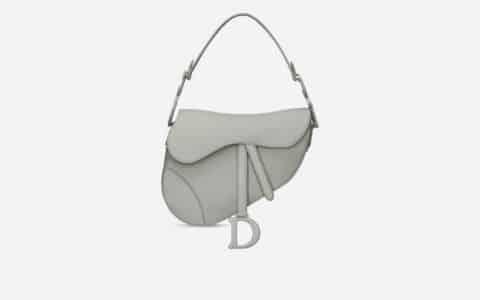Dior 灰色哑光牛皮革马鞍包Saddle bag M0446ILLO_M41G
