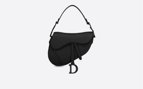 Dior 黑色哑光牛皮革马鞍包Saddle bag M0446SLLO_M989