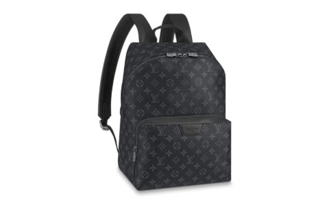 LV M43186 Monogram Eclipse黑花Discovery双肩包