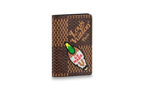 LV N60391 X NIGO限量联名系列鸭子图案口袋钱夹