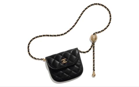 Chanel/香奈儿 小金珠羊皮腰包Waist bag AP1461
