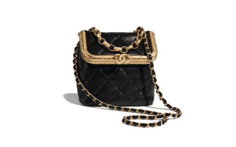Chanel 20新款复古小号菱格锁扣链条包晚宴盒子包 AS1885