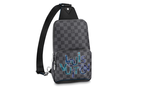 LV N40275 Avenue 单肩包 2020新款蓝色交织字母胸包