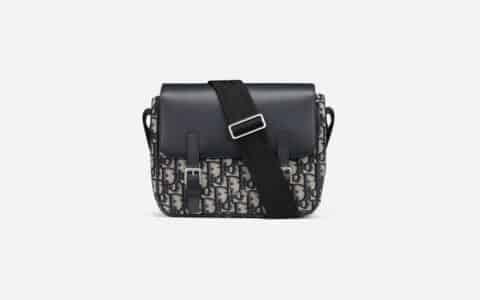 Dior Oblique 印花帆布和牛皮革信使包 M9994PTVY_M928