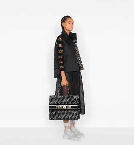 Dior 蓝色天鹅绒 Oblique Book Tote 购物袋 M1286ZWVF_M928