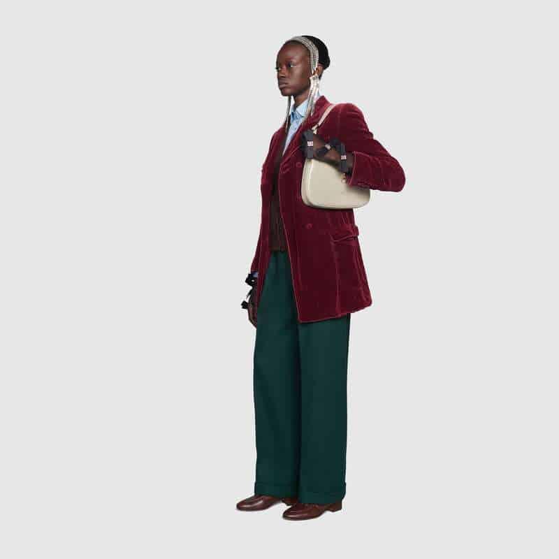 Gucci Jackie 1961系列小号单肩斜跨包 636709 10O0G 9022