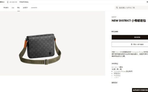 Louis Vuitton LV M45627 District 小号邮差包