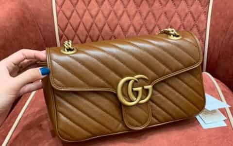 Gucci GG Marmont系列绗缝小号肩背包 443497 0OLFT 2535