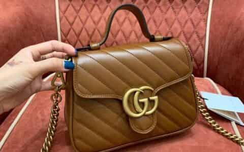 Gucci GG Marmont系列迷你手提包 583571 0OLFT 2535