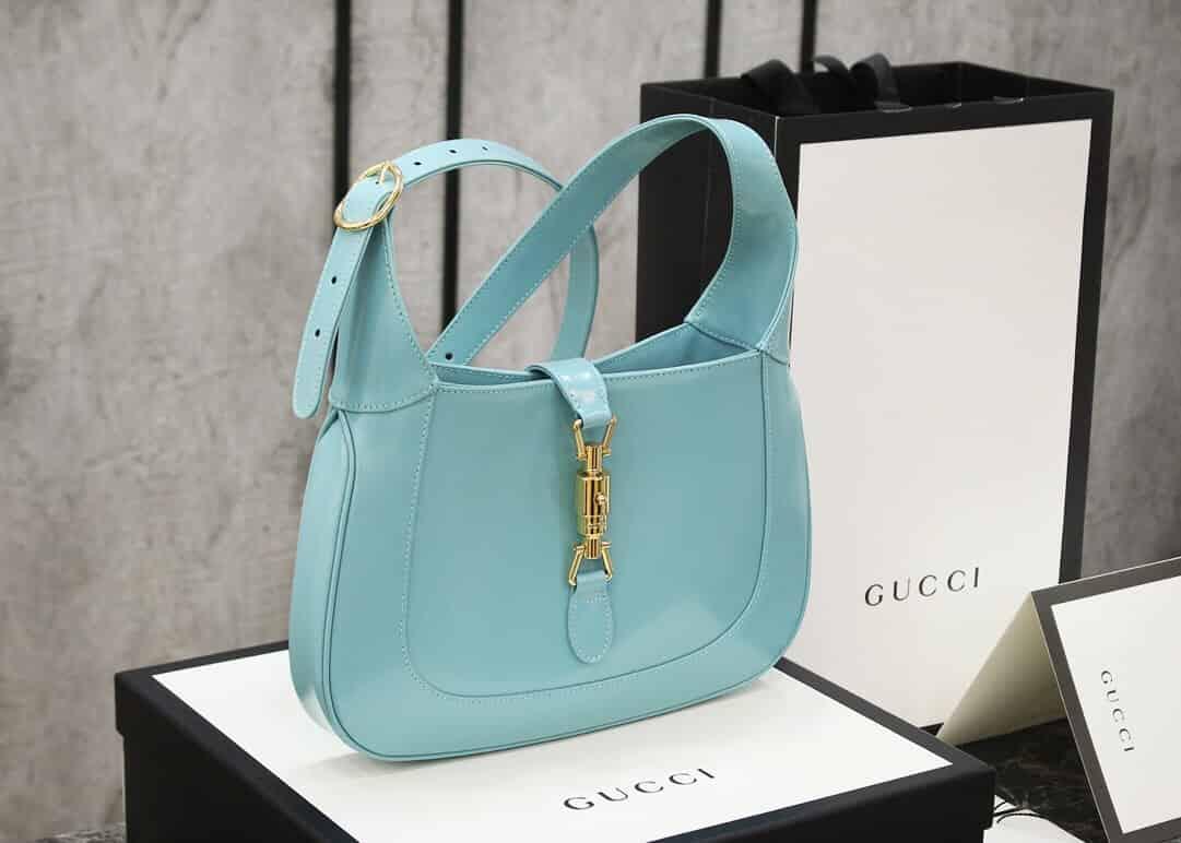 Gucci Jackie 1961系列小号单肩斜跨包 636709 10O0G 4933