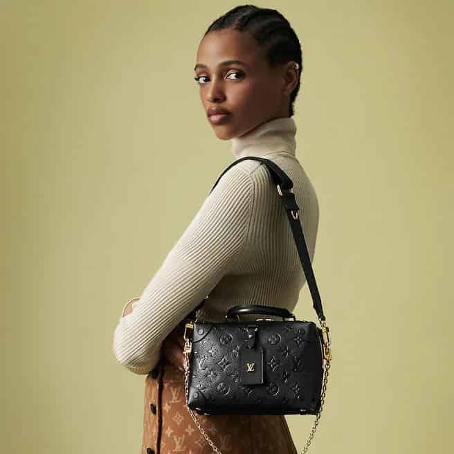 Louis Vuitton LV M45393 Petite Malle Souple 盒子斜跨包