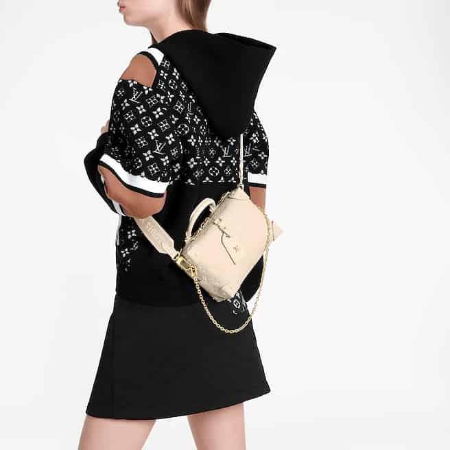 Louis Vuitton LV M45394 Petite Malle Souple 盒子斜跨包