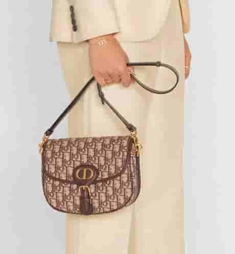 Dior Bobby 棕色Oblique印花单肩马鞍包 M9319UTZQ_M747