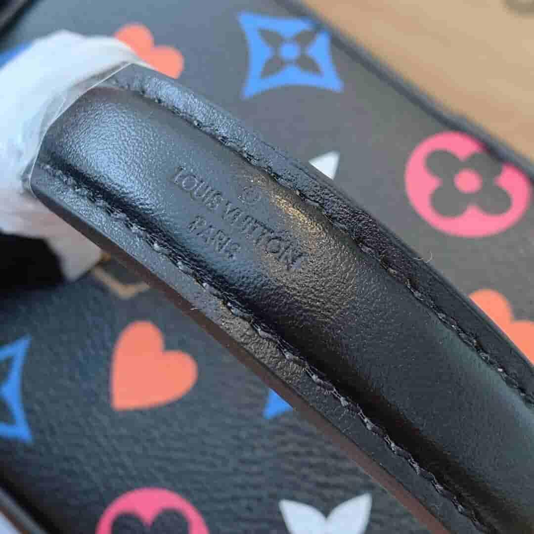 Louis Vuitton LV M57482 Vanity 黑三彩扑克牌盒子化妆包