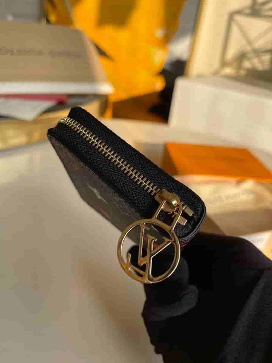 Louis Vuitton LV M80305 Zippy 黑三彩扑克牌零钱包