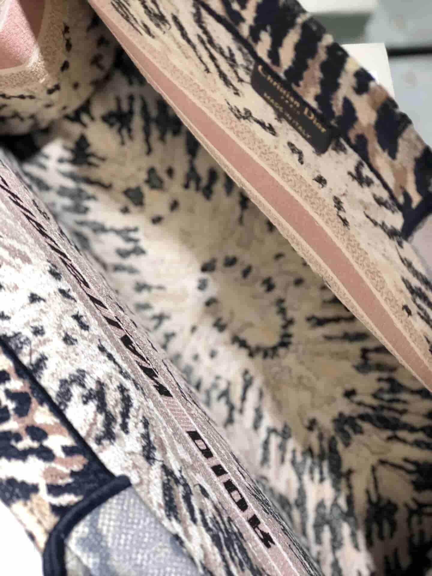 Dior Book Tote刺绣万花筒图案手提包购物袋 M1286ZJAI_M884