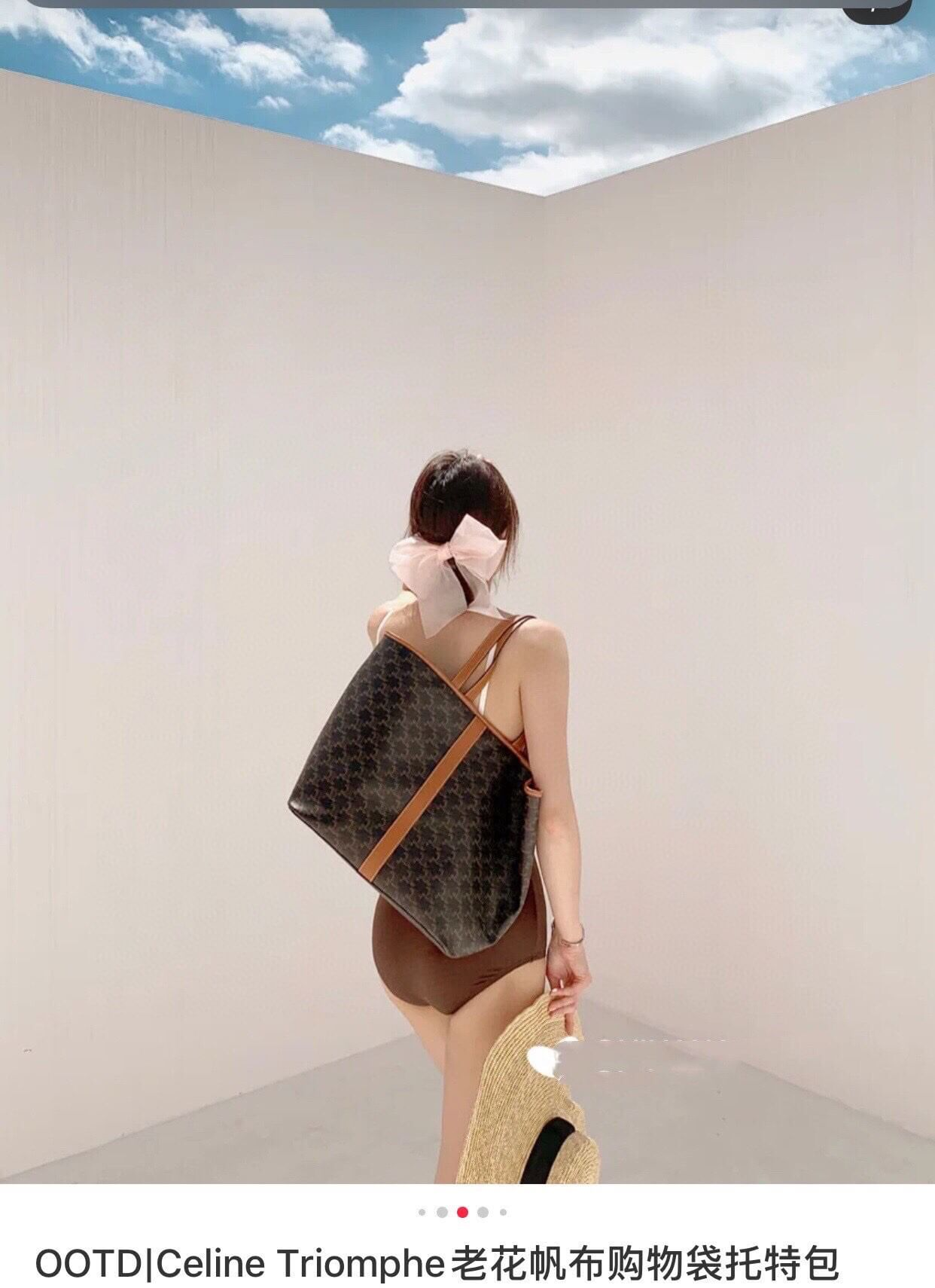 Celine 中号标志印花购物手袋 191112CAS.04LU