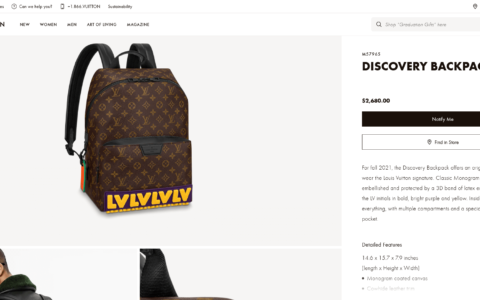 Louis Vuitton LV Discovery Backpack双肩包 M57965